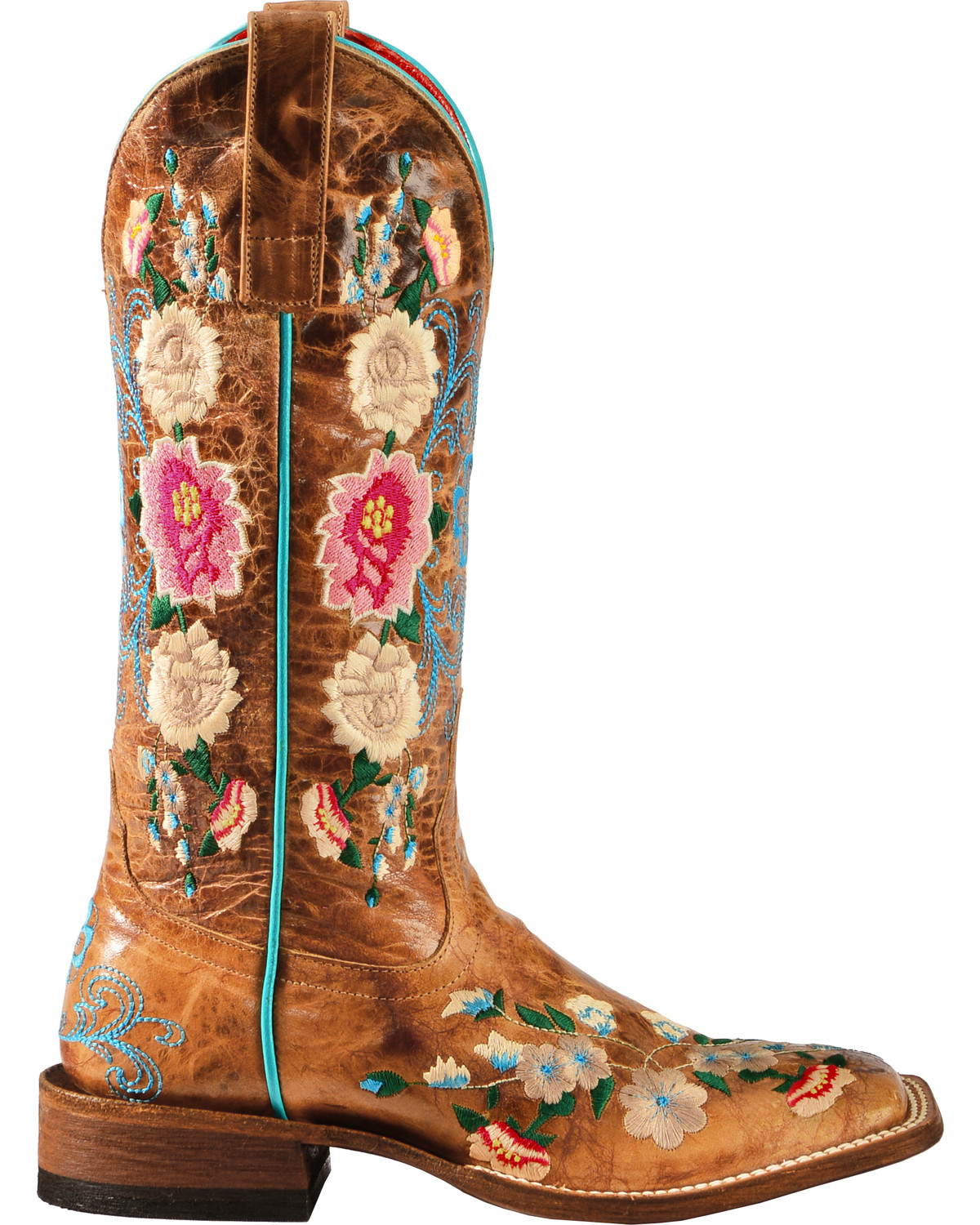 Macie Bean Rose Garden Cowgirl Boots Square Toe Boot Barn