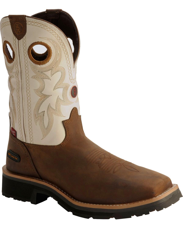 e07bb983528 Tony Lama 3R White Waterproof Cheyenne Chaparral Boots - Comp Toe