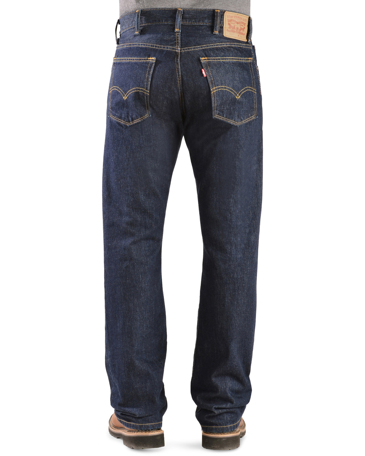 872e6c35008 Zoomed Image Levi's 517 Jeans - Slim Fit Boot Cut, Rinsed, ...