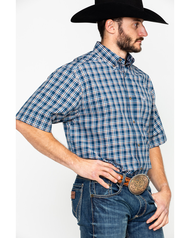 e7b3b30dcc Ariat Men s Harold Plaid Short Sleeve Western Shirt