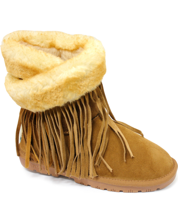 ebff93b8b1e834 Lamo Footwear Women s Fringe Wrap Boots