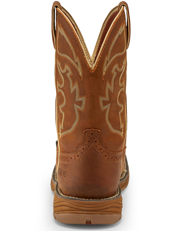 Justin Men S Stampede Rush Waterproof Western Work Boots