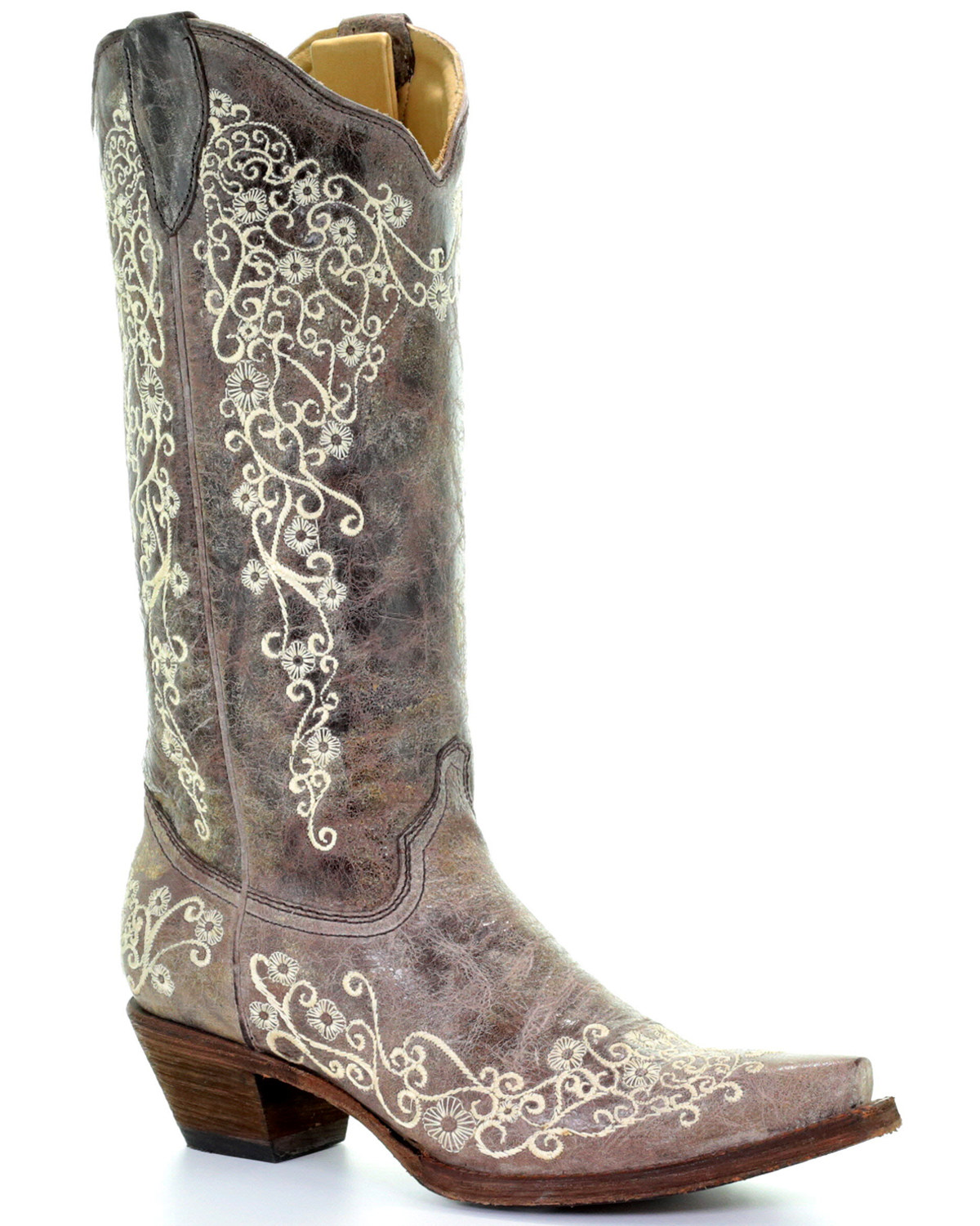 Corral Women\u0027s Bone Embroidery Western Boots