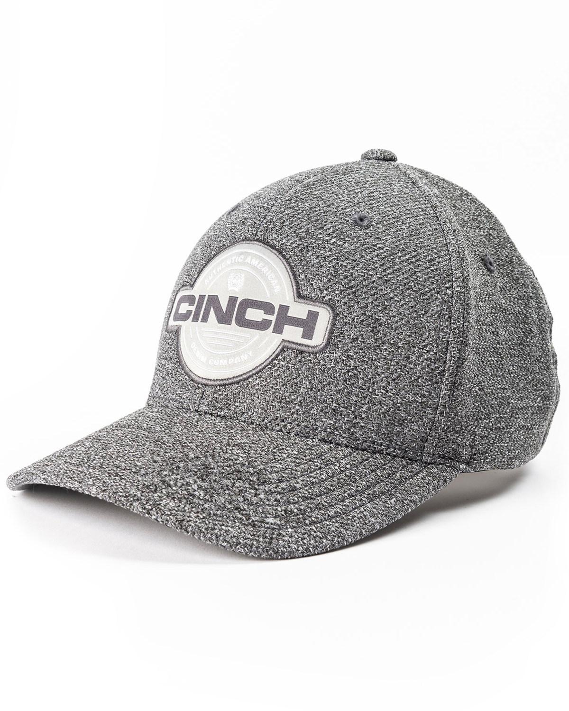 1bdd6e10853c5 Cinch Men s Grey Flexfit Circle Patch Cap