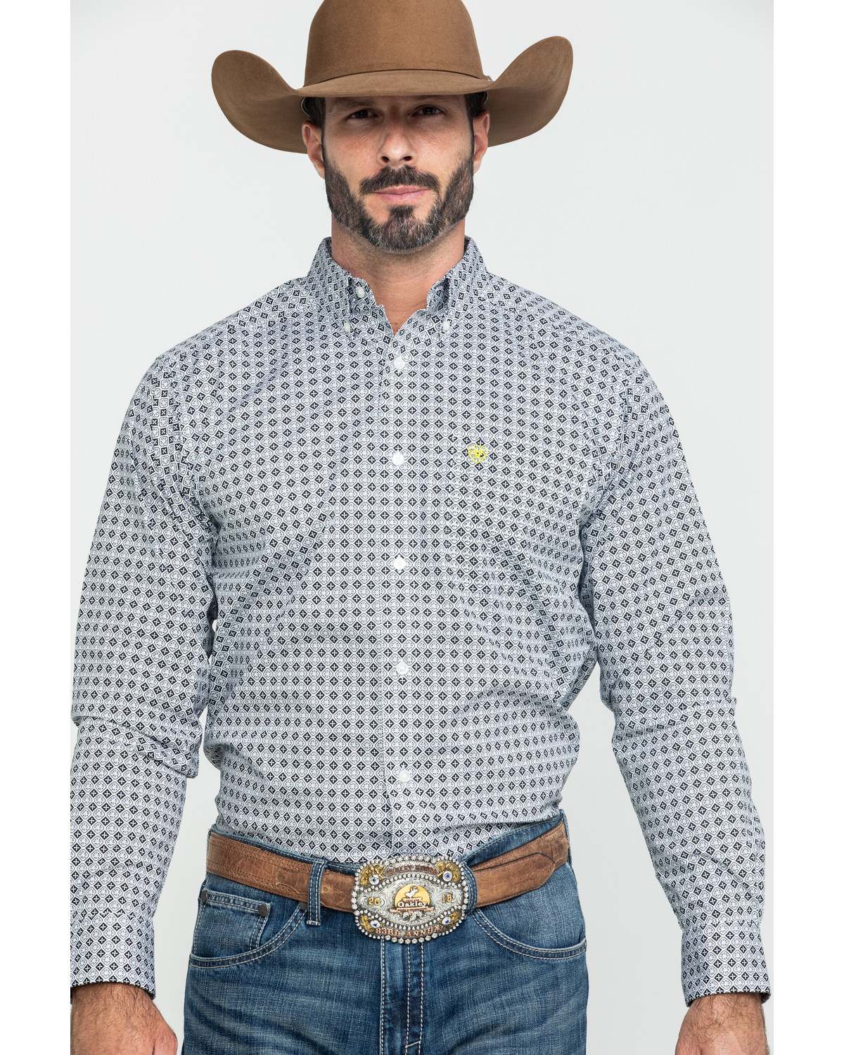 ARIAT Mens Fitted Long Sleeve Stretch Shirt