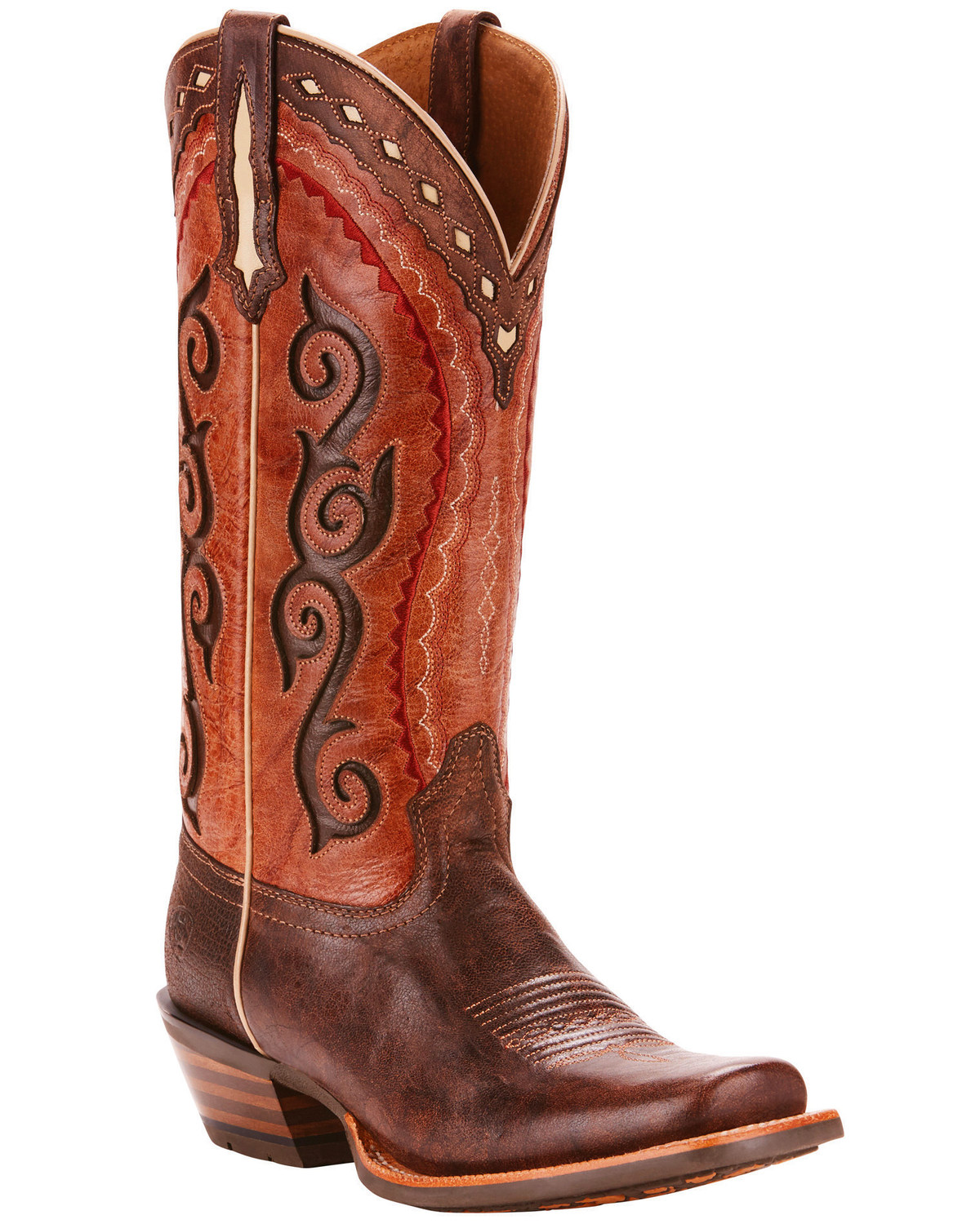 4cb36698efc Ariat Women's Cowtown Cutter Scroll Inlay Performance Cowgirl Boots -  Square Toe