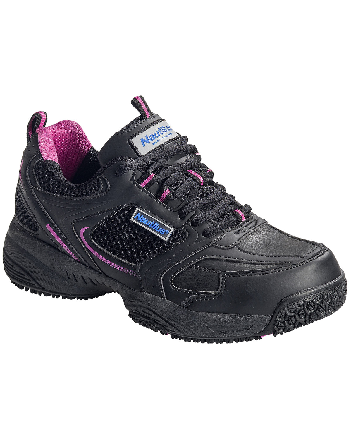 790b404db55abd Zoomed Image Nautilus Women's Steel Toe Slip Resistant Safety Shoes, Black,  ...
