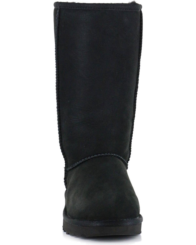 black ugg like boots