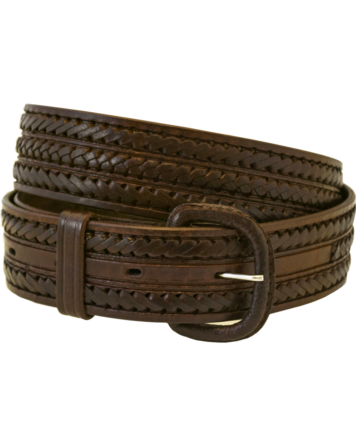 Western Express Men S Braided Leather Belt Boot Barn