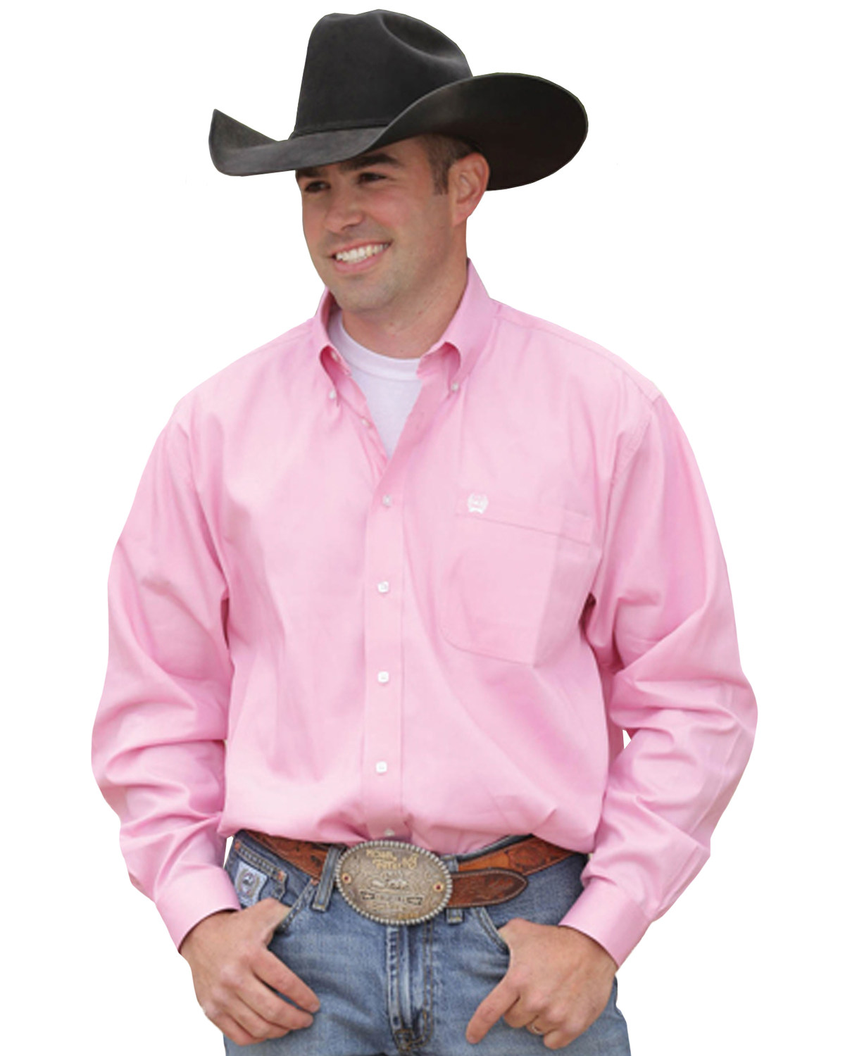 ca90fa2dcd0 Zoomed Image Cinch Men's Solid Pink Button-Down Western Shirt, Pink, hi-res