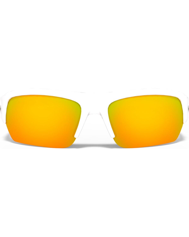 320cf3b11c5c Zoomed Image Under Armour Big Shot Polarized Sunglasses , White, hi-res