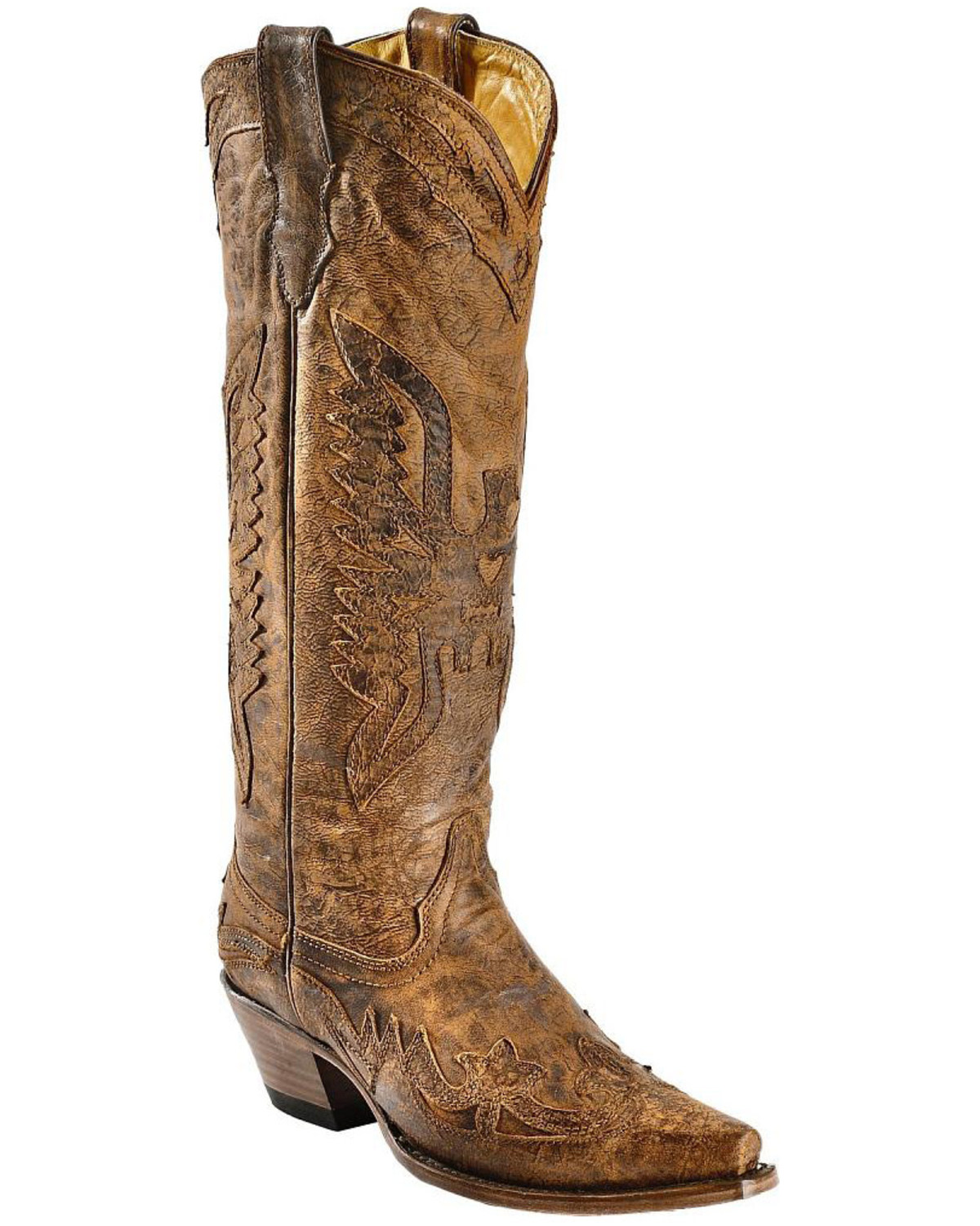 1f78b6dc298 Corral Women s Vintage Eagle Overlay Tall Western Boots