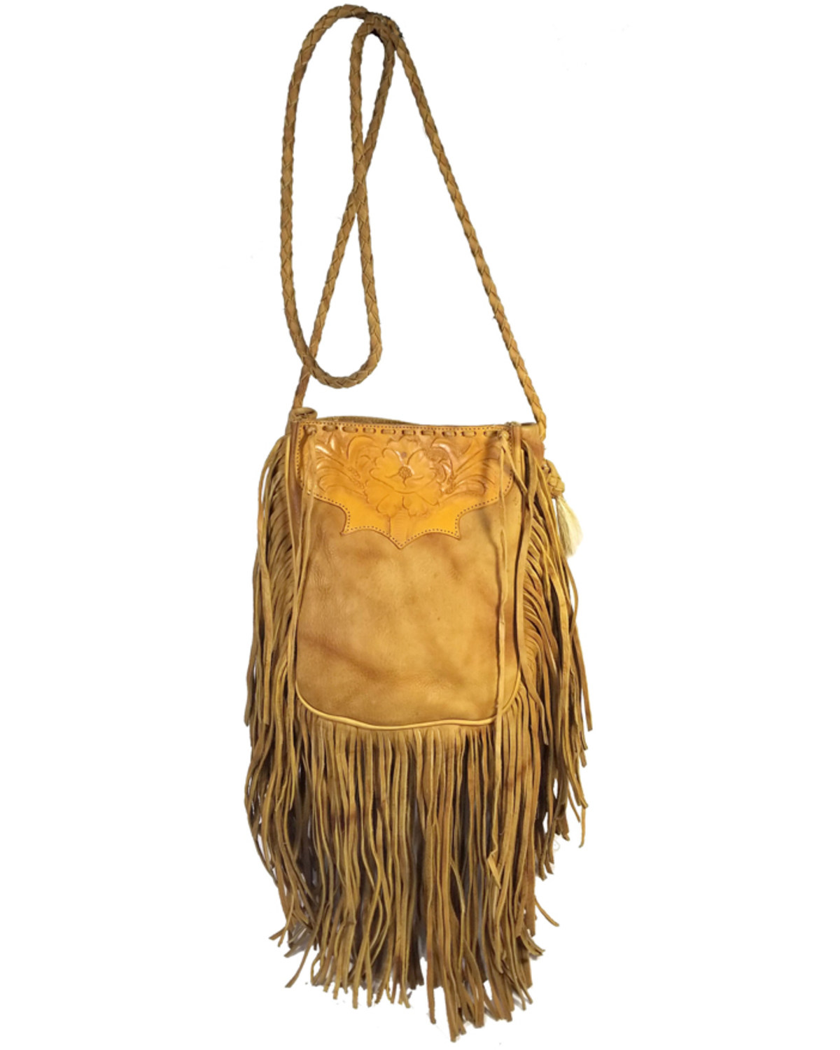 b954845c8624 Kobler Tooled Fringe Leather Handbag