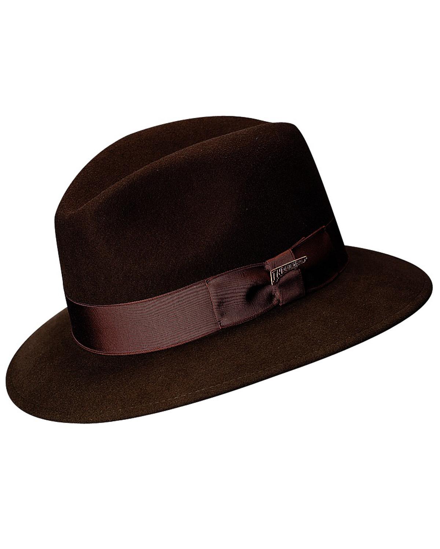67956712 Zoomed Image Scala Men's Brown Wool Felt Safari Hat, Brown, hi-res