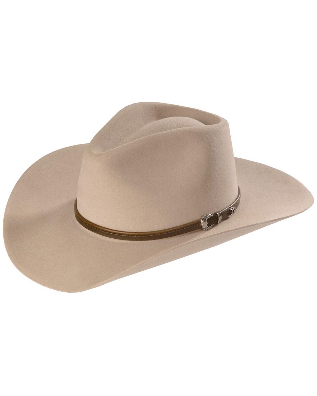 Stetson 4X Buffalo Felt Seneca Pinch Front Western Hat  b821b3733bd