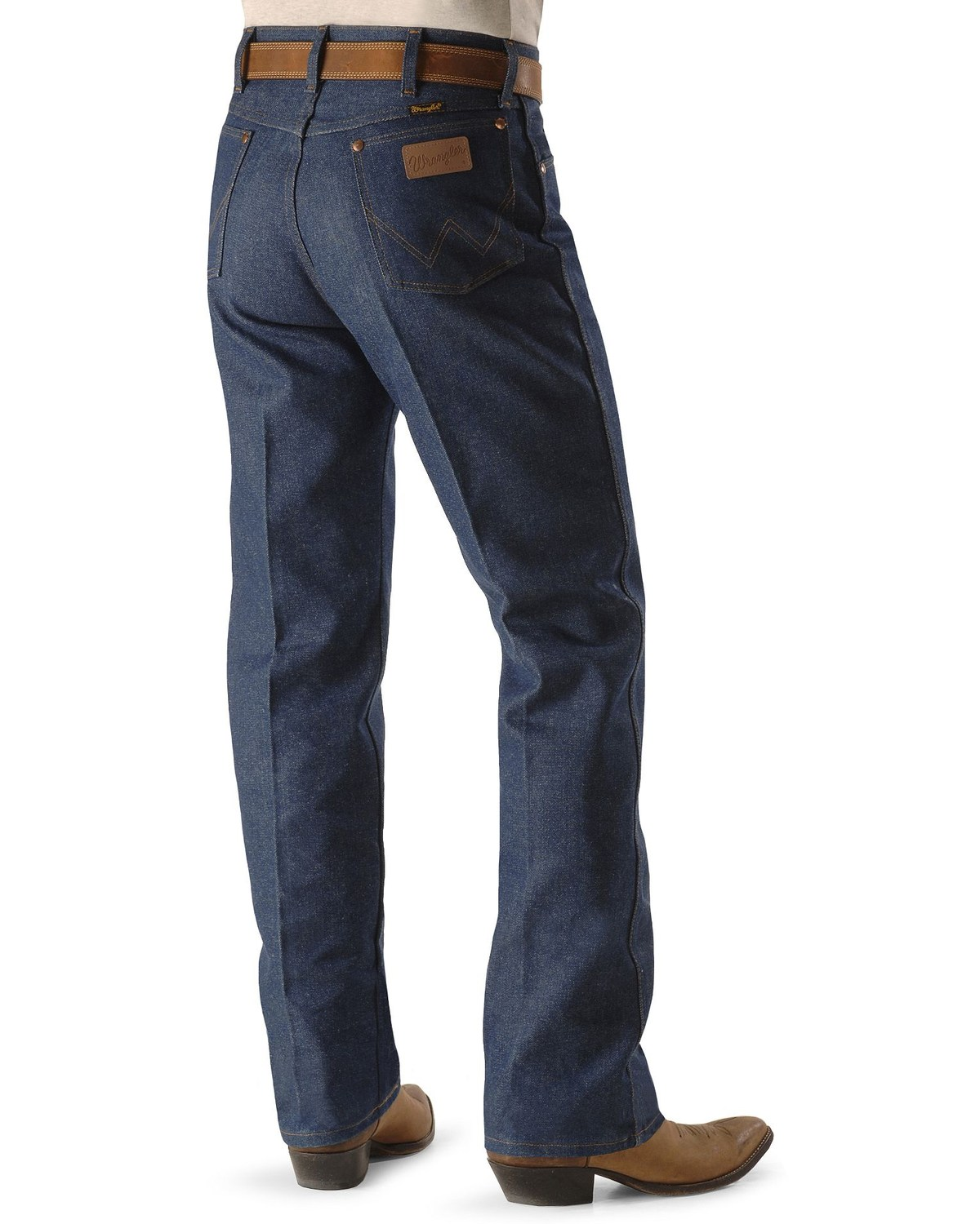 95205545 Zoomed Image Wrangler Men's Original Fit Rigid Jeans, Indigo, ...