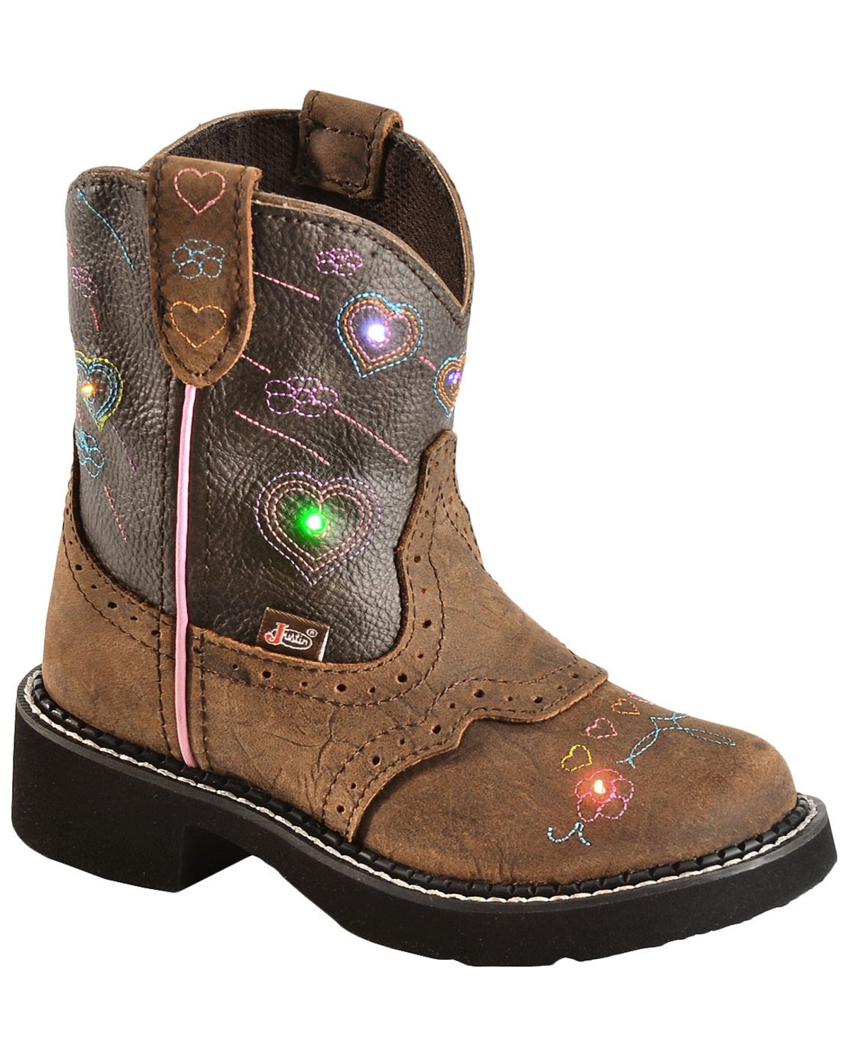 Justin Children S Gypsy Light Up Heart Embroidered Cowgirl