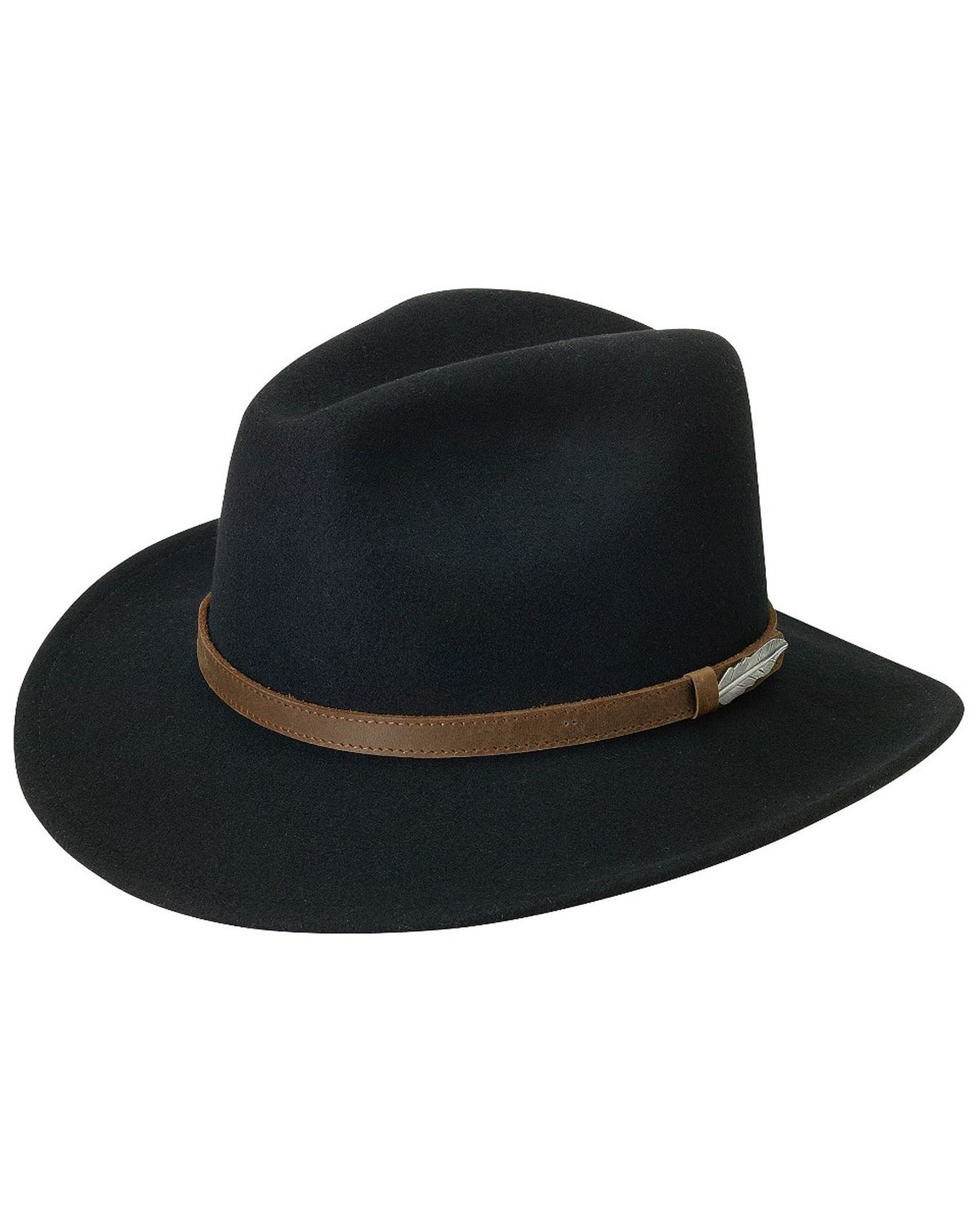 c4f4809a84510 Black Creek Small Brim Crushable Wool Felt Hat
