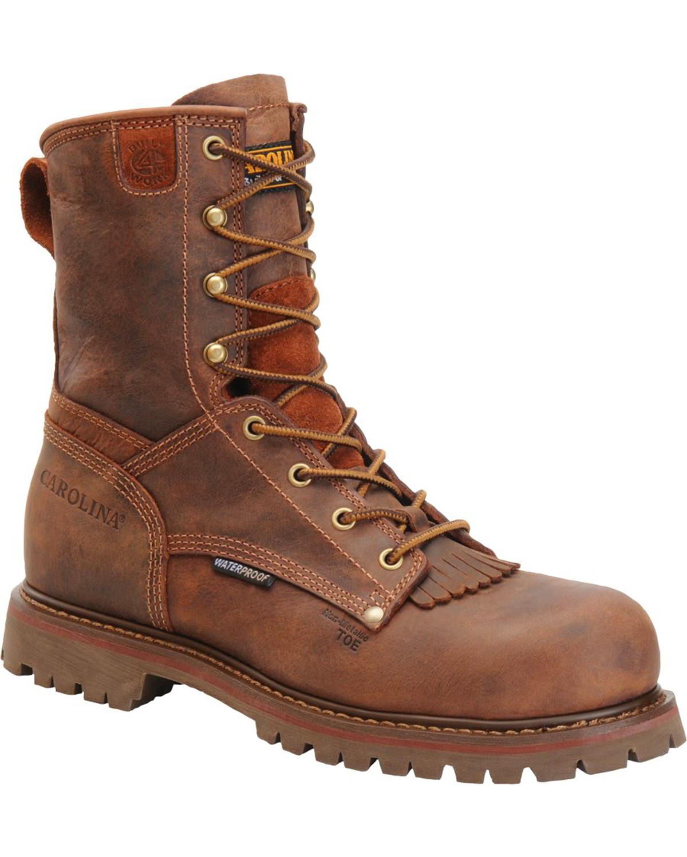 """Carolina Men's 8"""" Waterproof Composite Toe Work Boots, Brown, ..."""