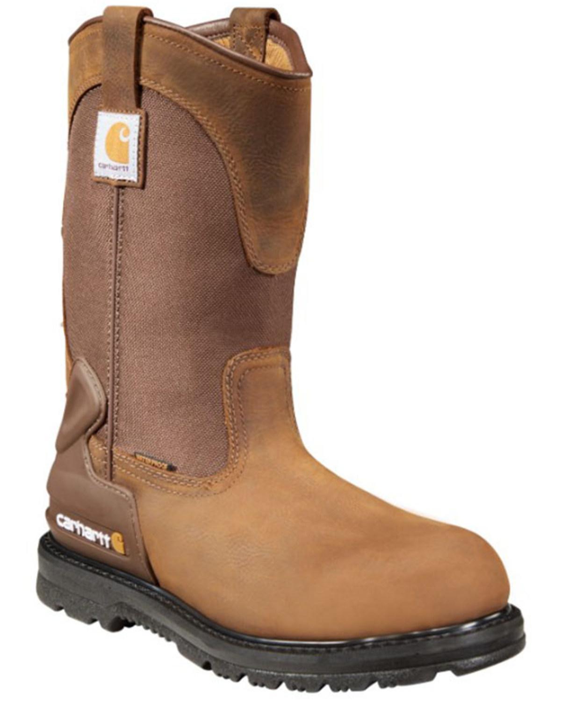 972d755e9f7 Zoomed Image Carhartt Waterproof Wellington Pull-On Work Boots - Steel Toe,  Bison, hi-