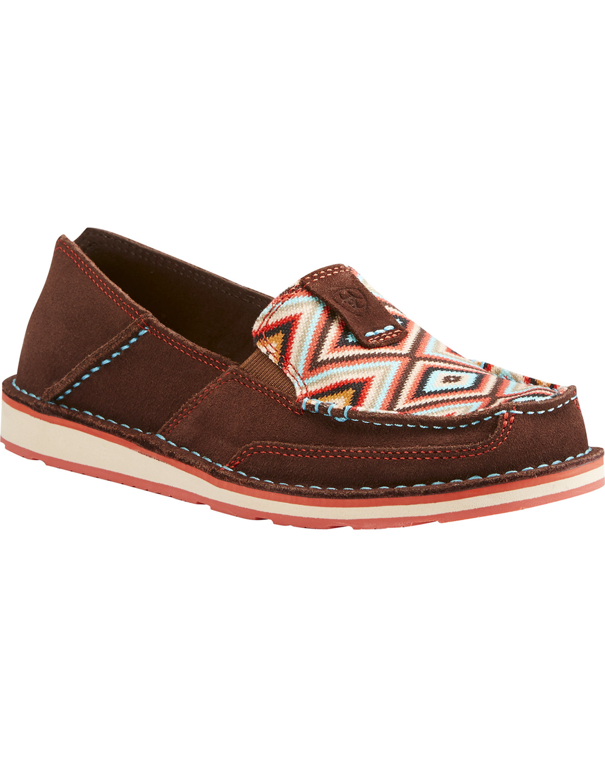 753ac1a5e72e Zoomed Image Ariat Women's Aztec Cruiser Shoes - Moc Toe , Multi, ...