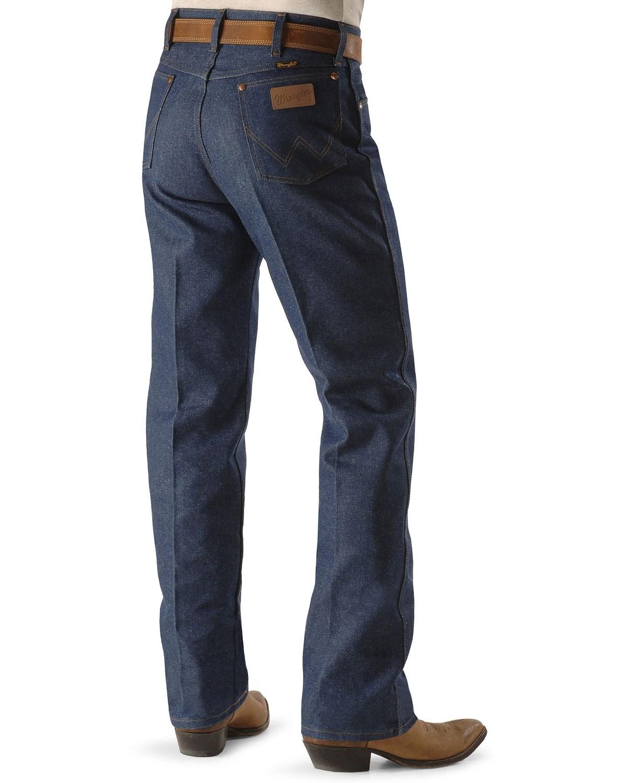 4581b8a1 Zoomed Image Wrangler Men's Original Fit Rigid Jeans - 38