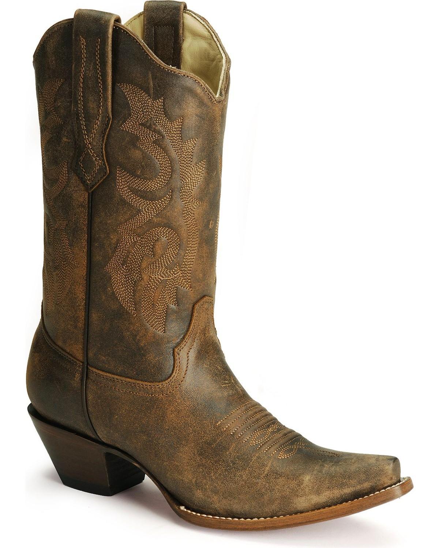 Corral Women's Distressed Snip Toe