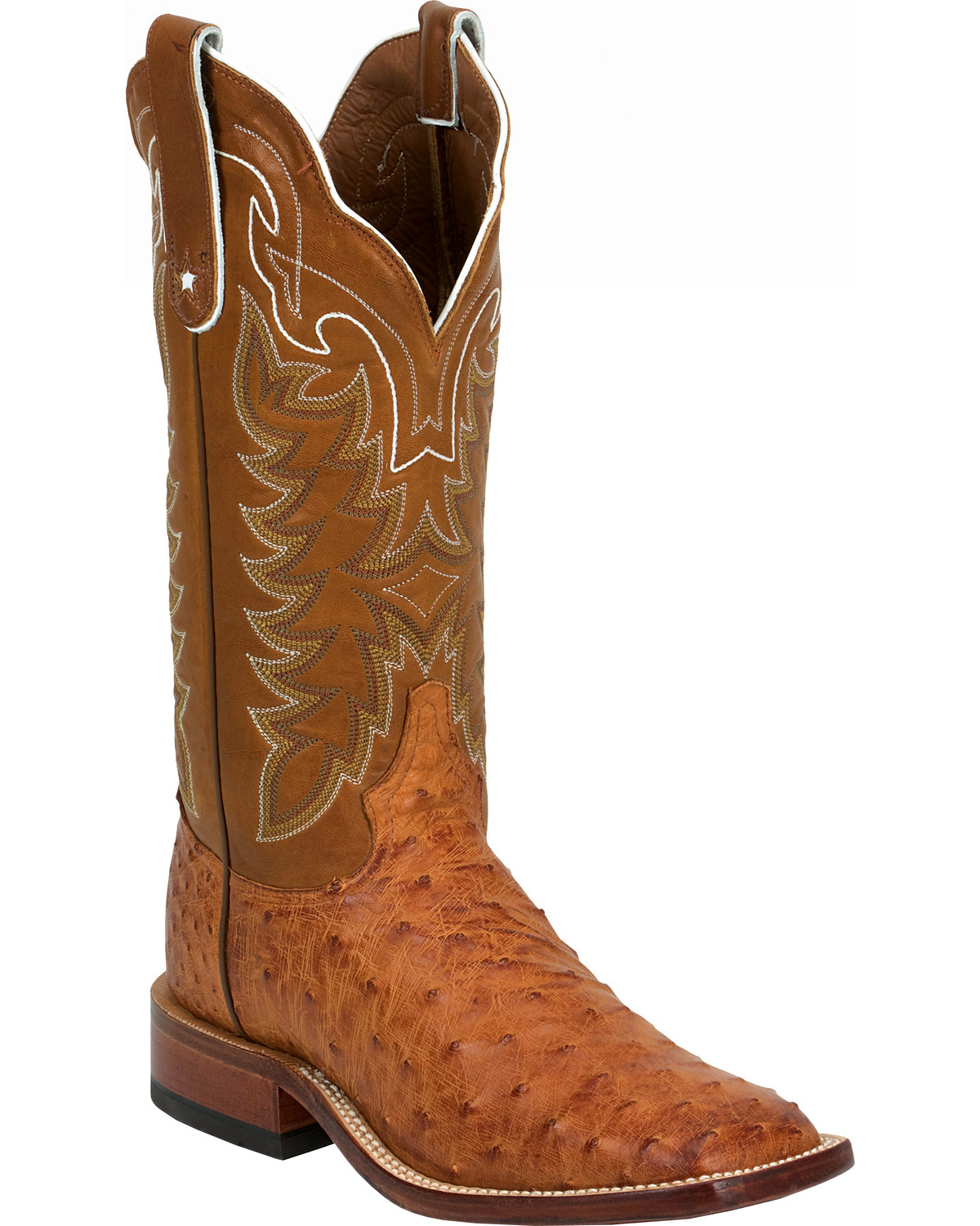 b58d45a2aa4 Tony Lama Vintage Full Quill Ostrich Cowboy Boots - Wide Square Toe