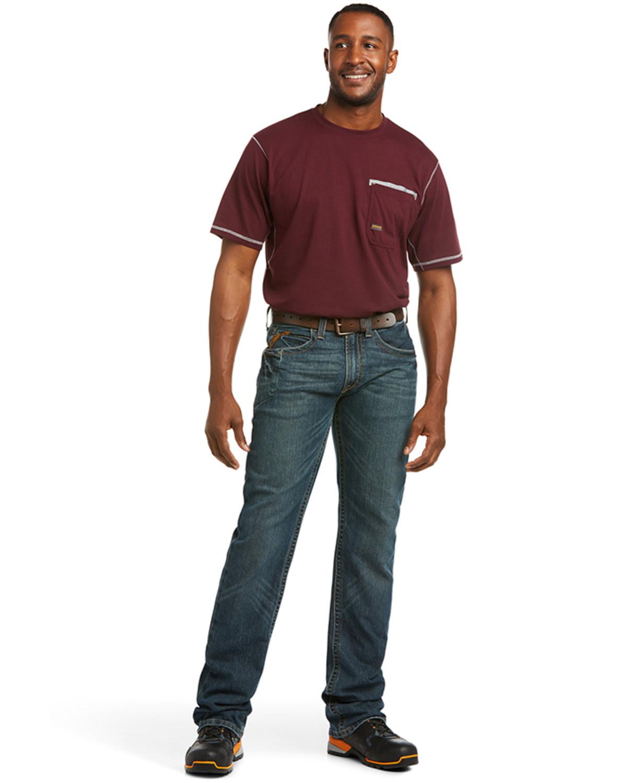 dcd12f32 Zoomed Image Ariat Men's Rebar M5 Slim Straight Leg Jeans, Denim, ...