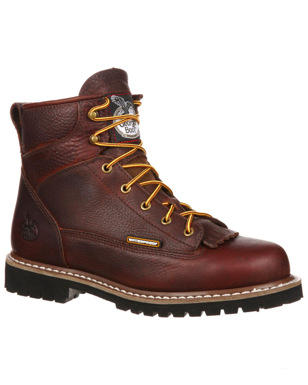 Georgia Boot Men's Waterproof Lace-To