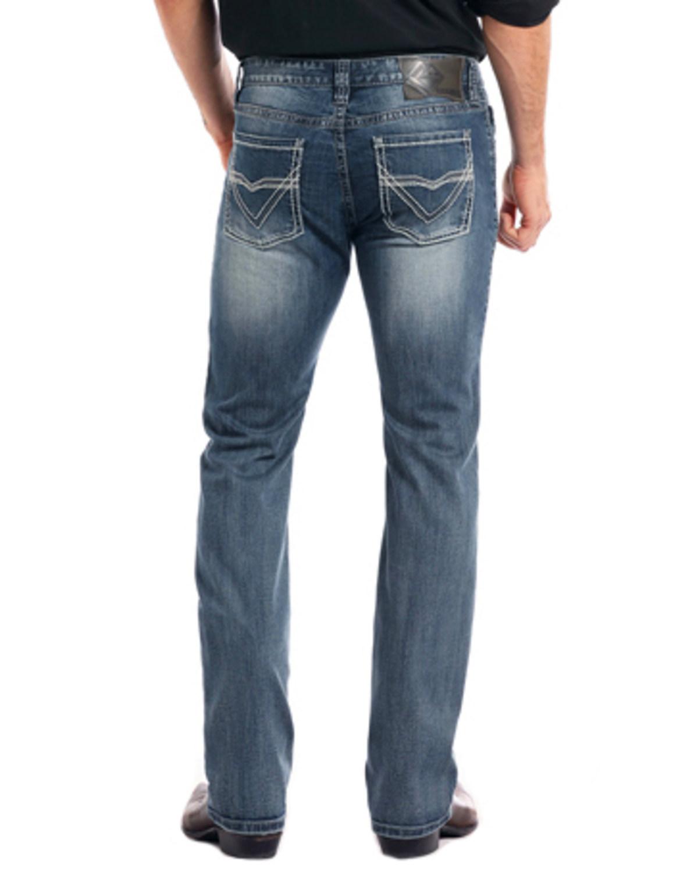 263e99223a45b Rock & Roll Cowboy Men's Reflex Revolver Medium Vintage Wash Slim Straight  Leg Jeans
