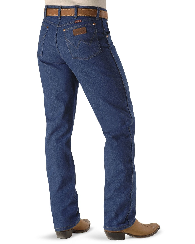 a07a3475 Zoomed Image Wrangler Men's Relaxed Cowboy Cut Jeans, Indigo, ...