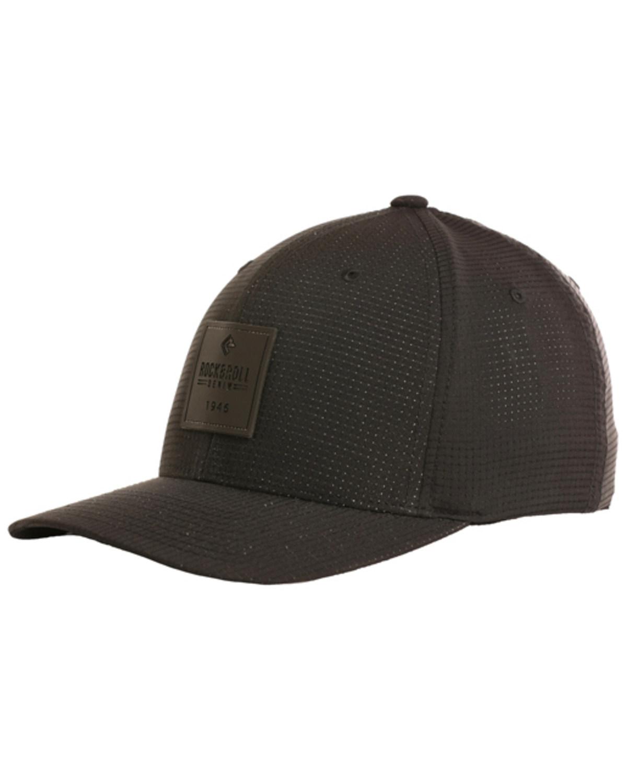 8f4e9cbbf40cf Rock   Roll Cowboy Men s Rubber Patch Flexfit Cap