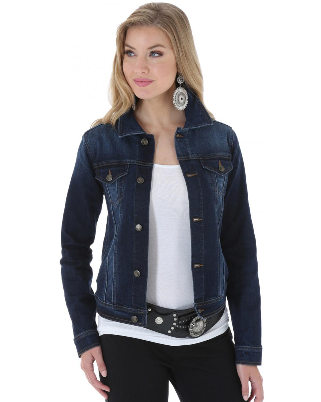 b1cba5558e00 Zoomed Image Wrangler Women's Denim Jacket, Denim, ...