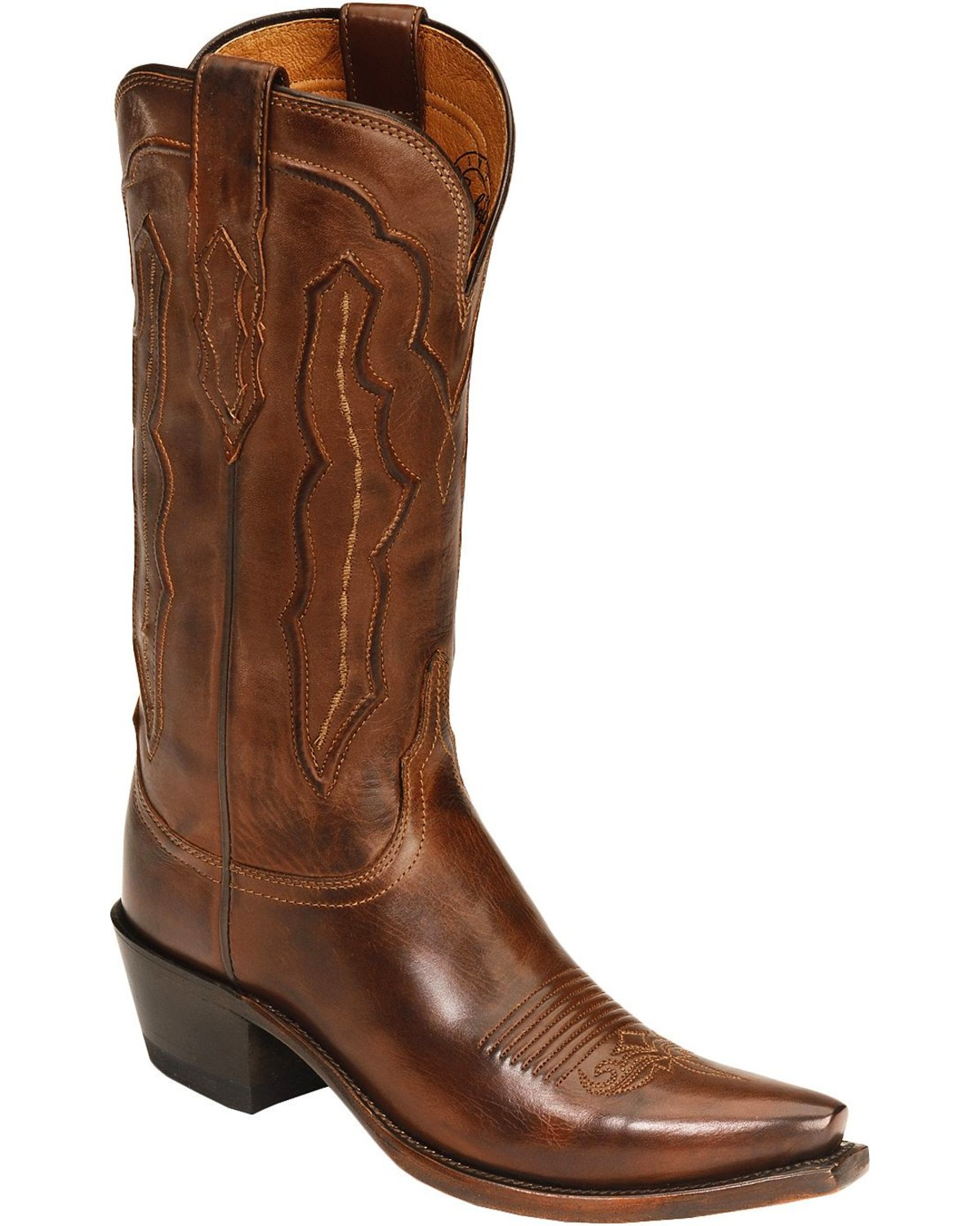 Lucchese Women S Grace Embossed Snip Toe Western Boots