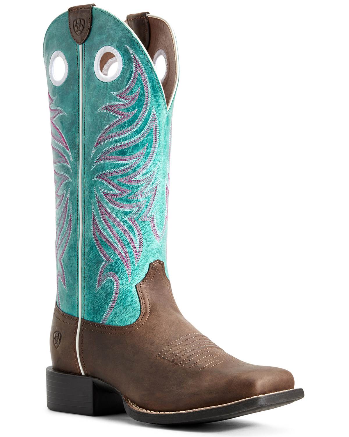22b490d1af7 Ariat Women's Round Up Ryder Western Boots - Wide Square Toe