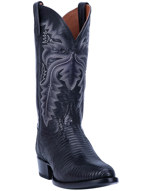 Western Boots Black Color Dan Post Men`s Boots