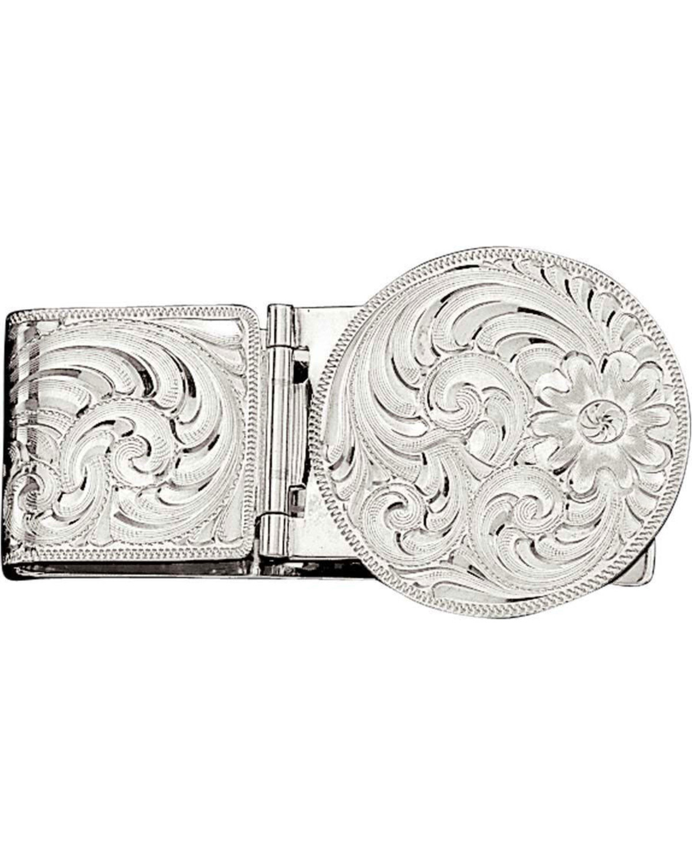 88be2d8b45ec Montana Silversmiths Silver Engraved Western Money Clip