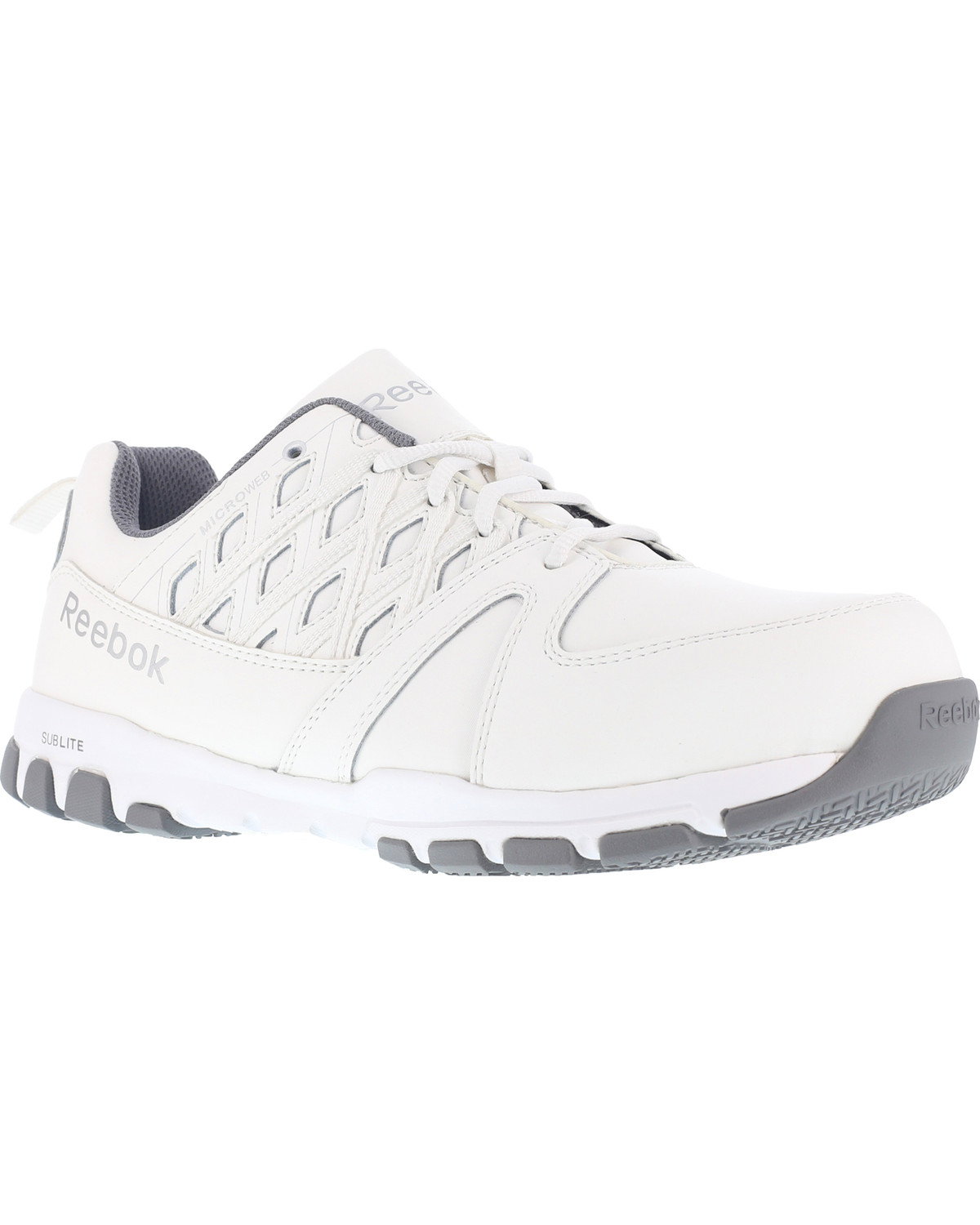 Reebok Men s Leather and MicroWeb Athletic Oxfords - Steel Toe ... 0eeffd8ab