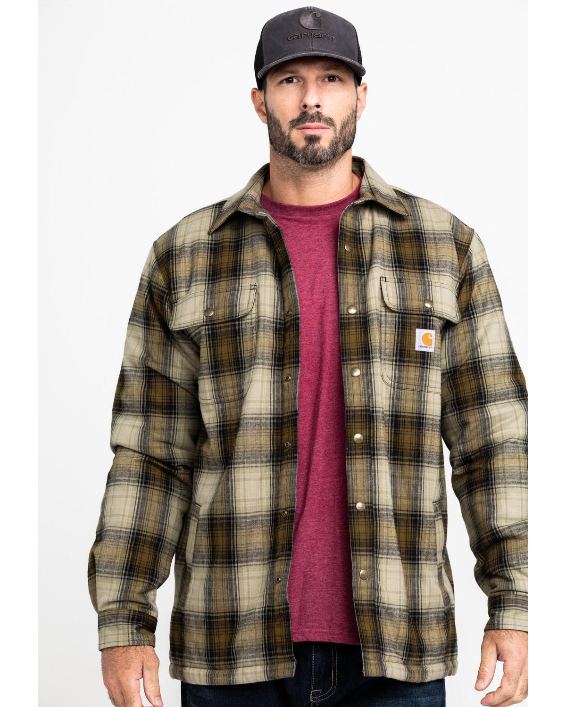 wyprzedaż w sprzedaży aliexpress uroczy Carhartt Men's Hubbard Flannel Long Sleeve Work Shirt Jacket
