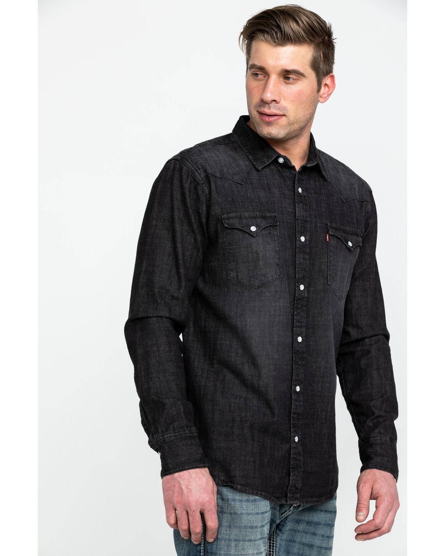 e87c6abfc57e Levis Denim Long Sleeve Button Up Mens Shirt