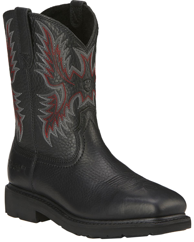 b177a7d210e Ariat Men's Sierra Steel Toe Work Boots