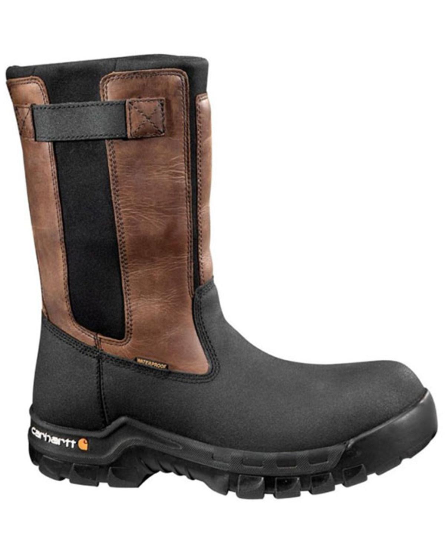 7ec47845a3c Zoomed Image Carhartt Composite Rugged Flex Mud Wellington Waterproof Work  Boots, Black, hi-res