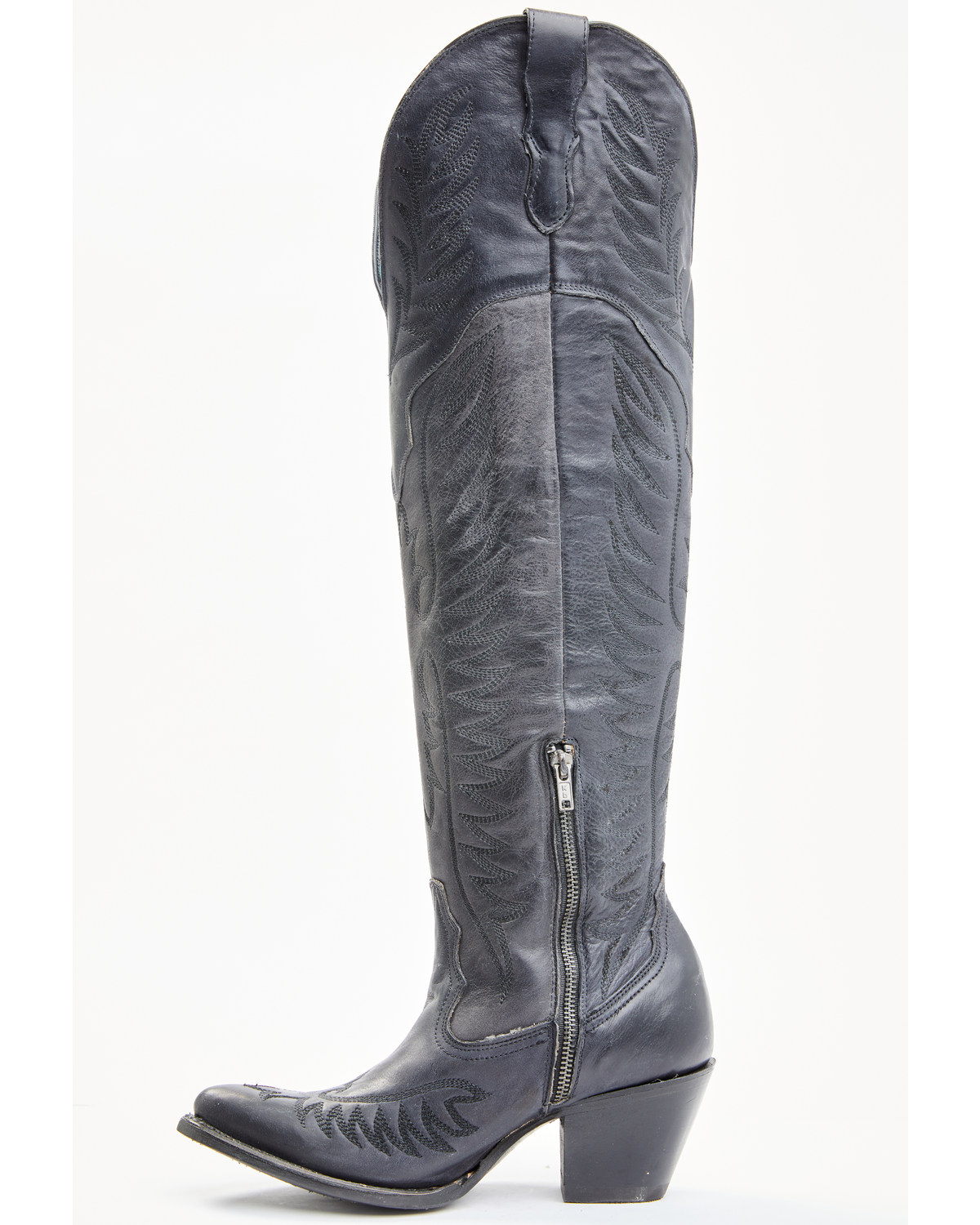 Corral Women S Black Embroidery Tall Western Boots Snip