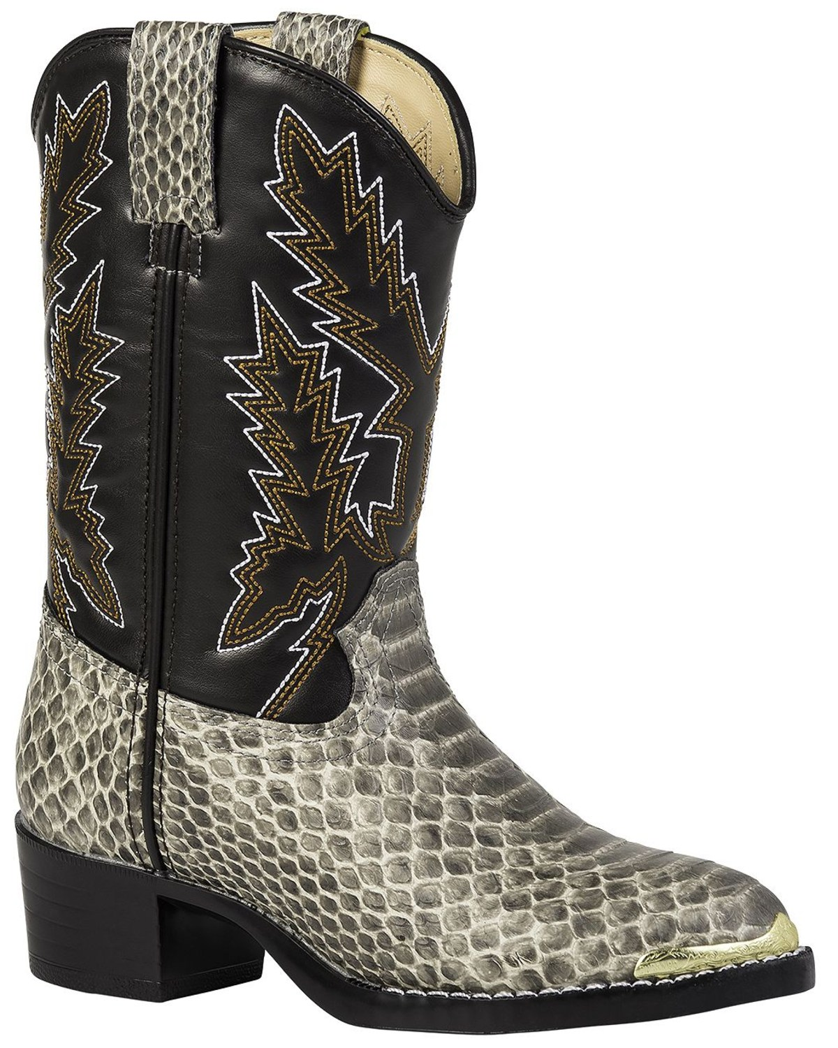 141024ccac2 Durango Youth Snake Print Western Boots