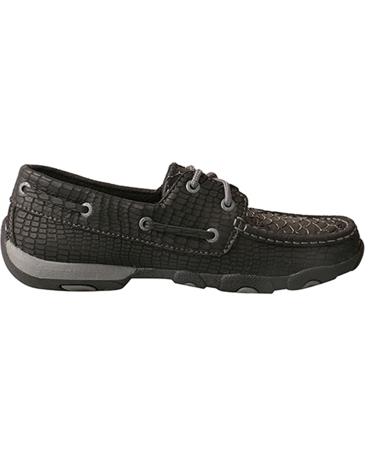 6742c532498 Twisted X Women s Black Fish Grey Driving Mocs - Moc Toe