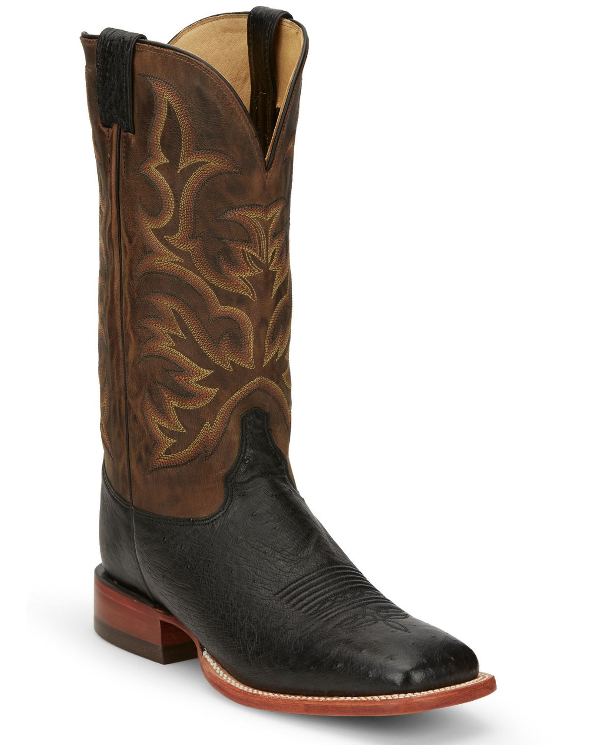 Justin Men S Smooth Ostrich Exotic Western Boots Boot Barn