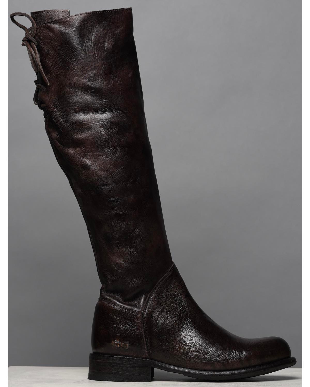 4762059474aca Bed Stu Women s Dark Brown Manchester Tall Boots - Round Toe