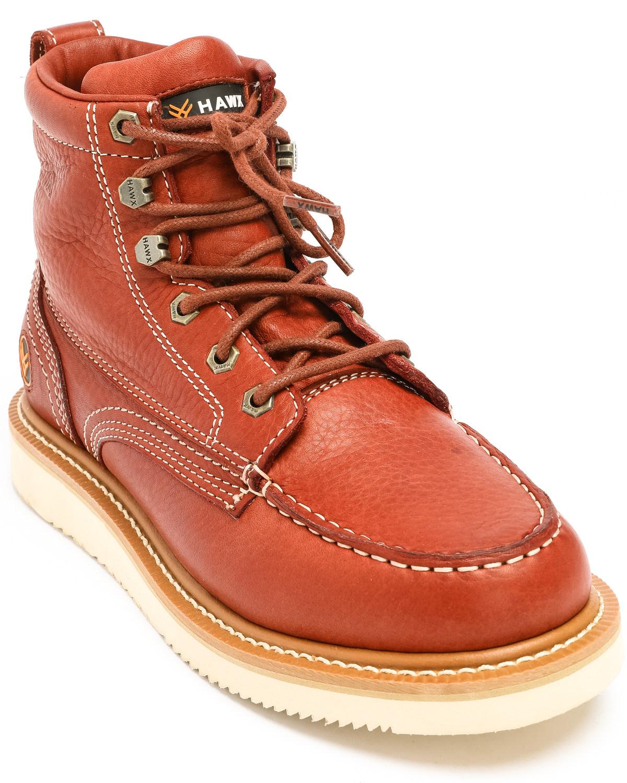 Hawx Men's Grade Moc Wedge Work Boots
