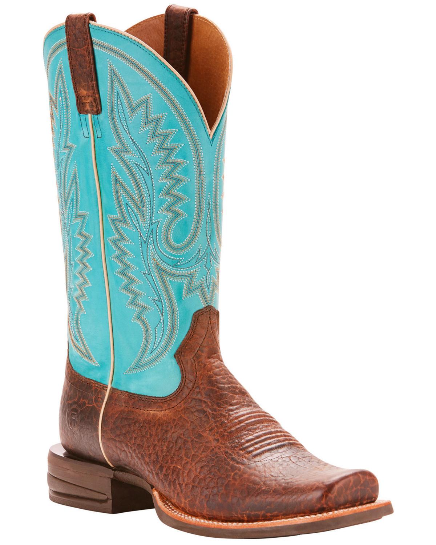 863300500de Ariat Men's Relentless Advantage Banker Cowboy Boots - Square Toe